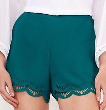 Lauren Conrad Shorts Women's Turquoise Scalloped Cutout Shorts XXL NWT $44 MSRP