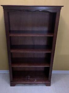 Cherry Finish Wooden Bookshelf 60x32x12