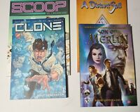 Lot of 4 TP comics Son of Merlin, Clone, A distant soil, Scoop all VF-NM IMAGE