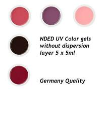 Professional Nded Uv Color gel set without dispersion layer 5 x 5ml Eu Seller