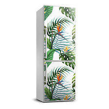 3D Refrigerator Wall Kitchen Removable Sticker Flowers Tropical leaves