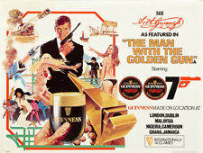 "The Man With the Golden Gun Guinness Beer Poster Replica  14 x 11"" Photo Print"