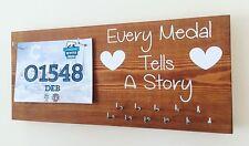 Every medal tells a story - Runner / Sports Medal & Bib hanger / holder /display