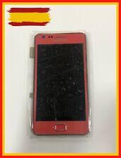 Pantalla LCD+TACTIL+MARCO Rosa Samsung S2 I9100 Original NUEVO