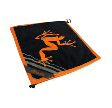 Frogger Golf Wet and Dry Amphibian Towel Orange Brand New Towels Accessories
