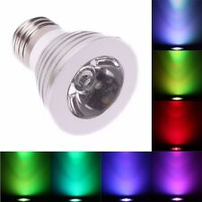 E27 LED RGB Color Light Bulb Lighting w/ 16 Colors Wireless Remote Control