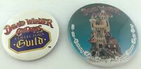 David Winter Cottages Collectibles Button Pin Pinback Set of 2 1994