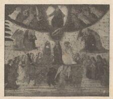 C2257 Botticelli - Trionfo della Divinità - Stampa d'epoca - 1917 vintage print