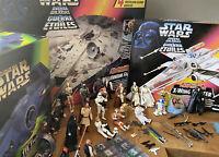 STAR WARS x-wing fighter, millennium falcon Darth Vader tie fight KENNER