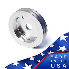 Small Block Chevy Crankshaft Pulley V-Belt 2V Crank 350 SWP SBC Billet Aluminum