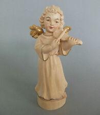 Engel mit Violine ca. 17,5 cm hoch; Holz geschnitzt gewachst Musikinstrument