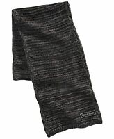 Calvin Klein Mens Scarf Gray One Size Knitted Ribbed Trim Contrast  $55 #169