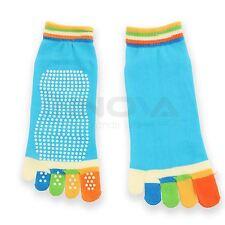 Yoga Fitness Halt Sport Fünf Zehen Socken Gummi Pilates rutschfest Socken blau