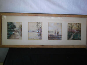 4-Antique Original Paintings Signed & Done By Same Artist Framed