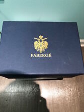 Imperial Collection Of Faberge brandy glasses,Pair,gold trim
