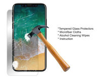 100x Wholesale Lot Tempered Glass Screen Protector For Apple iPhone X 8/7 Plus
