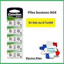 PROMO PRIX CASSE!! Piles boutons AG 4 /LR66 /LR626/377 Camélion