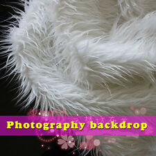 white Mongolian Curly Sheep Faux Fur Fabric Newborn baby photography props  BTY