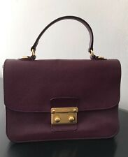 100% Authentic Pre Owned Miu Miu Madras Leather Top Handle Bag