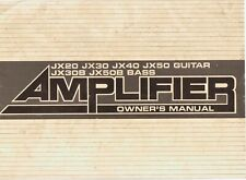 YAMAHA JX Series Guitar Amp OWNERS MANUAL, GOOD Condition