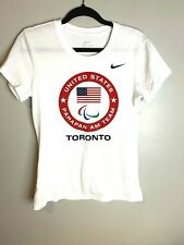 Nike Team USA Parapan AM Toronto T Shirt New White Dri Fit Olympics Men's Medium