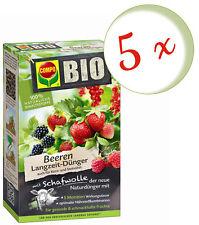 Sparset: 5 x COMPO BIO Beeren Langzeit-Dünger mit Schafwolle, 2 kg