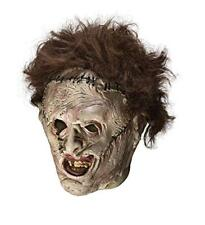 Texas Chainsaw Massacre Leather Face Mask, Gray, One Size
