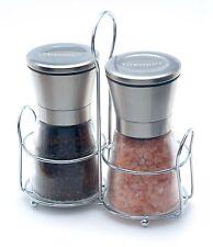 Dremun Premium Salt & Pepper Grinder Set With Table Stand, Adjustable Coarseness