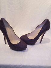 All saints deep purple ladies platform heels  uk 4.5 ref ap01
