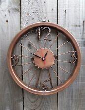 Fair Trade Hand Made Recycled Bike Wheel Chain Large Art Deco Wall Desk Clock