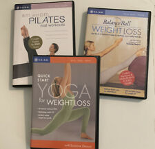 Lot Of 3 Yoga, Weight Loss, Balance Ball And Pilates Workout Dvds Euc