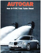 Jaguar S-Type 2.7 D V6 SE & Sport Road Test 2004-05 UK Market Brochure Autocar