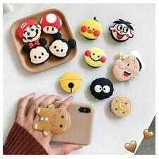 Universal Foldable Bracket Holder Cute Gingerbread Mushroom Folding Ring Holder