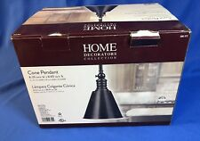 Home Decorators Collection Weathered Bronze Cone Pendant Light 606 372