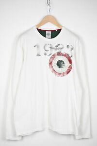 AERONAUTICA MILITARE Men's XX LARGE Long Sleeve White Logo T-Shirt 38094-GS
