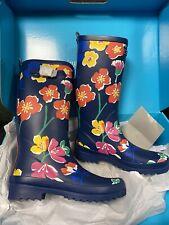 NWT Vera Bradley Rain Boots Santiago Floral Sz 8