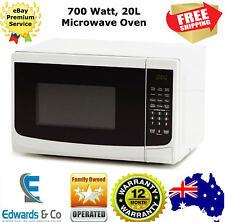 Microwave Oven 700W 20L White Digital Childlock 12 Mths Warranty 10 Power Levels