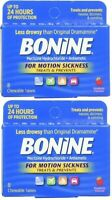 2 PACK - Bonine for Motion Sickness, Raspberry Flavored, 8 Chew Tabl ea, 10/2020
