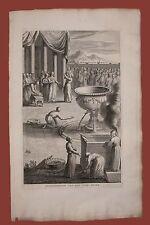Festività ebraica Sukkot Liberazione dell'acqua Ebrei Calmet 1725 bible bibbia