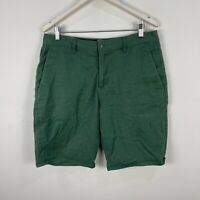 Volcom Mens Shorts 34 Green Bermuda Pockets