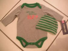 NEW CHEROKEE Who Are You Calling Elf? OUTFIT Newborn BABY BOY Infant CHRISTMAS