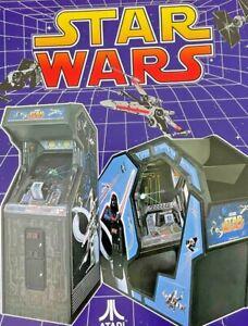 Original Atari Star Wars Promo Arcade Game Flyer Brochure 1983