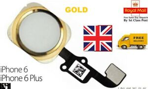 For iPhone 6 & 6 Plus Home Button Flex Cable Replacement GOLD. FAST & FREE