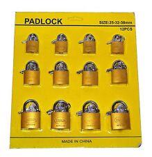 Offer 12 X Padlocks Padlock U-lock Lock 32/38/50mm