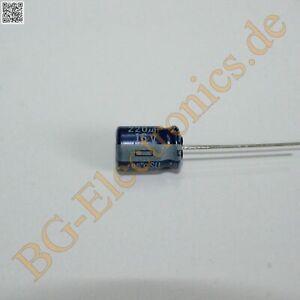 1 x 220µF 220uF 16V 85° RM3.5 Elko Kondensator Capacitor Matsushit E-Cap 1pcs