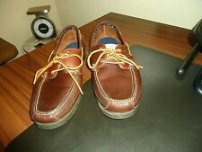 "Timberland Mens Classic, Brown Leather, 2-eye, Boat Shoes, ""Kiawah"", 5230R,13 M."
