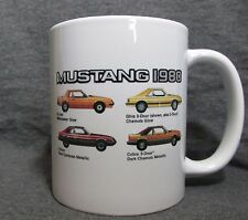 1980 Mustang Line Coffee Cup, Mug - New - Classic 1980's Ford - Factory Colors