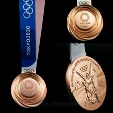 Tokyo 2020 Olympic Bronze Medal With Ribbon 1:1 Full Size Souvenir High Quality