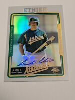 2005 Topps Chrome Andre Ethier #221 Rookie refractor Auto