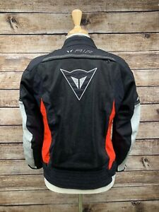 Dainese Air Jacket Size 42 US 52 EUR Black Red Nylon Motorcycle Padding